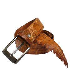 Genuine Alligator Crocodile Leather Skin Men's Belt No-Join