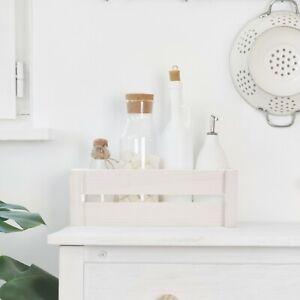 Pure White Wooden Apple Crate Retail Display Shelf Storage Box Gift Hamper