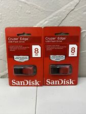 SanDisk Cruzer Edge 8GB USB 2.0 Flash Pen Drive Media Storage Memory Stick Black