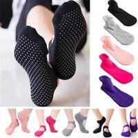 Women Cotton Socks With Grips Yoga Barre Sock Non Slip Skid Barre Pilates Ballet