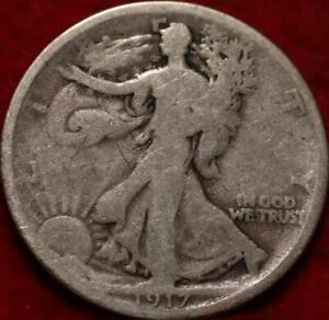 1917-D Denver Mint Silver Walking Liberty Half