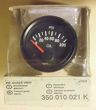 VDO Cockpit 52mm Oil Pressure Gauge for 4WD Nissan Toyota Mitsubishi Ford Subaru