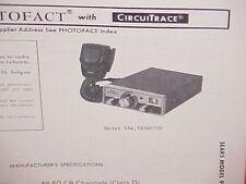 1978 SEARS CB RADIO SERVICE SHOP MANUAL MODEL 934.38060700 (ROADTALKER)