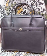 OROTON BRIEFCASE MELANIE PEBBLE BLACK Clearance 70 Of RRP$695 Leather Bag