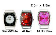 2pcs Fancy Rectangle Ribbon Watch Faces For Interchangeable Beaded Bands