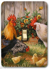 Rooster Farm Animal Country Metal Single Light Switch Plate Cover Home Decor 300