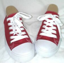 MOSSIMO SUPPLY CO RED AND WHITE SNEAKERS SIZE 8 NEW