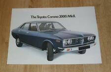 Toyota Corona 2000 Mk2 Brochure 1975 - Saloon & Estate