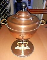 Gorgeous Antique Edwardian Copper & Brass Samovar Tea Urn Excellent Condition