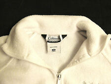 Columbia Womens XS Full Zip Fleece Jacket Sweater White Womens Extra Small