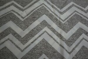 """GRAY/BROWN CHEVRON PRINT INDOOR OUTDOOR HOME DECOR FABRIC UPHOLSTERY  54"""" X 5 YD"""