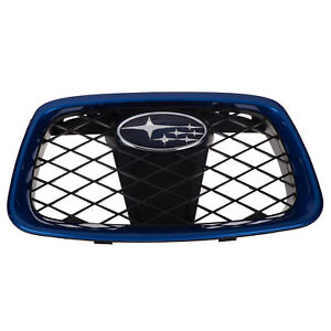 OEM 2006-2007 Subaru Impreza Front Center Grille Assembly Blue Mica 91121FE231PG