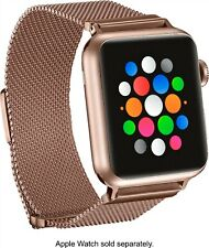 Platinum Magnetic Mesh Band Stainless Strap for Apple Watch 38mm/40mm, Rose Gold