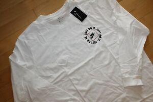 NWT NIKE Men's BIG & TALL Long Sleeved Basketball JDI T-Shirt White