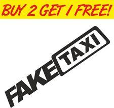 2 x Fake taxi funny car decal bumper sticker EURO JDM DUB JAP VW vinyl