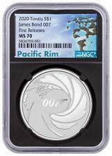 2020 Tuvalu James Bond 1 oz Silver $1 Coin NGC MS70 FR Pacific Rim SKU60763