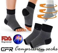 CFR Plantar Fasciitis Compression Socks Heel Foot Arch Pain Relief Support OBS