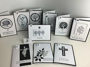 Trauerkarte, Beileid Handarbeit, Karte Stampin Up - u.A. (Auswahl - B)