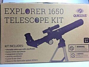 Qurious Space Kid's Explorer Telescope Gift Kit Eco Carry Case 1650| Children