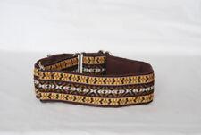"2"" Martingale Dog Collar Brown Multi - Ribbon on Backing 1"