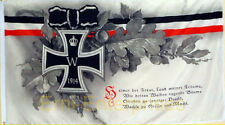 Flagge Militaria Heimat Spruch  EK 1,5 x 0,9m Fahne Deutschland Neu #358