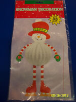 Snowman Frosty White Winter Christmas Holiday Party Hanging 3D Decoration