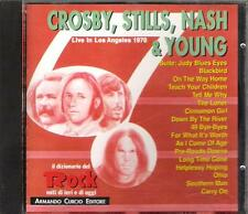 "CROSBY,STILLS,NASH E YOUNG  - CD MADE IN ITALY 1992 "" LIVE IN LOS ANGELES 1970 """