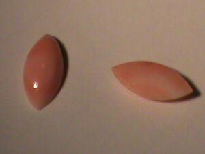 HUGE Lot 60 Natural Undyed Angel Skin Coral Navette Cabachons 10x5 MM NICE !
