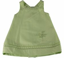 JACADI Girl's Changera Light Green Sleeveless Flower Dress Age: 6 Months NWT
