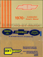 1970 Camaro Owners Manual with Envelope 70 RS SS Z28 Z 28 Chevy Owner Guide Book