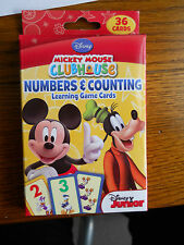 36 MICKEY MOUSE  NUMBERS +COUNTING LEARNING GAME CARDS BRAND NEW DISNEY