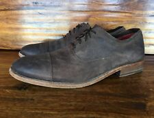 Mens Steve Madden Lace Up Casual Shoes Burnished Brown Leather EU 44 US 10, 10.5