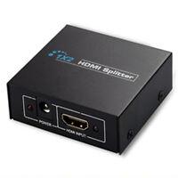 1x2 HD 1080P 3D 2 vías Hdmi Splitter Amplificador Conmutador Hub Caja para TV PC