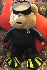 """R Rated 24"""" Talking Ted 2 Scuba Wetsuit, Mask and Fins Super Soft Plush  & NWT"""