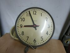 VINTAGE SIMPLEX SCHOOL CLOCK GLASS FACE ESTATE FIND AS IS