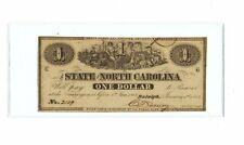 1863 NC133 THE STATE OF NORTH CAROLINA $1 - CONFEDERATE NOTE - UNCIRCULATED MINT