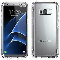 Griffin Case Survivor Clear Samsung Galaxy S8+ Case Transparent Military Grade