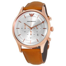 Emporio Armani Silver Dial Ladies Chronograph Watch AR11043