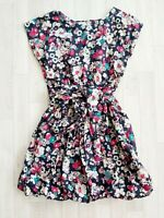 Johnnie B BODEN Size M 13-14 Years Navy Ditsy Floral Summer Dress 100% Cotton