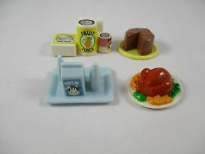 Playskool Dollhouse cake groceries turkey milk tray Doll House 4 pieces