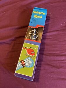 New Old Stock! Vintage Helicopter LCD Watch Toy Like Takara Transformers Robot