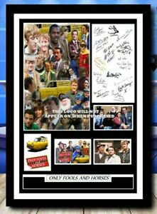 (490)  only fools & horses signed cast photograph unframed/framed  (reprint) @@@