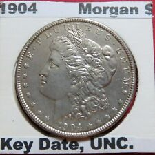 ">KEY DATE>1904  MORGAN SILVER DOLLAR>> ""SCARCE"" 1904 Philadephia Mint Coin, ""AU"""