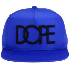 Dope Couture Neon Nylon Lightweight Snapback Cap Hat-Blue