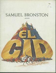 El Cid Original Souvenir Film Brochure Revue Sophia Loren Charlton Heston