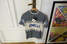 Authenthique réedition vintage Cinelli cycling jersey wool laine maillot