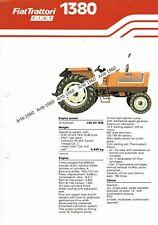 Fiat 1380 tractor 4 pg leaflet /Brochure 1980?