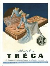 Publicité ancienne matelas Tréca 1950 issue magazine Yves Villeneuve