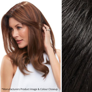 """Imperfect easihair easiPart 18"""" French XL Topper - 100% Human Hair - Color 1B"""