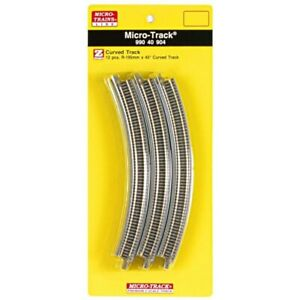 Z Scale MTL Micro Trains 99040904 Curved Track R-195mm 45 Degree (12 pcs)